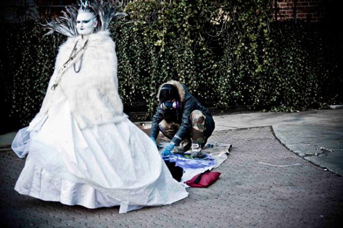 """Ice Queen"" Costume Design By Fiya Bruxa. Harbourfront Toronto"