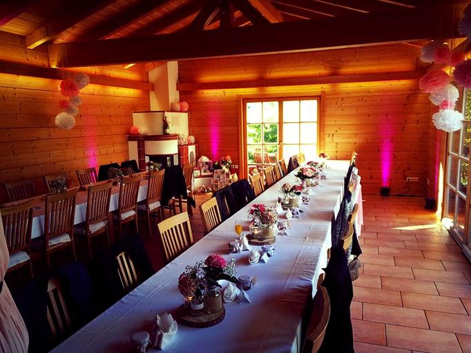 Aufbaubeispiel für eine Hochzeitsfeier