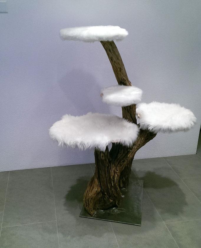 Katzenbaum aus Fliederholz - in verschiedenen Ausführungen möglich