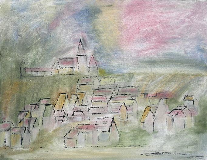 2007  Das Dorf 40x50 Öl