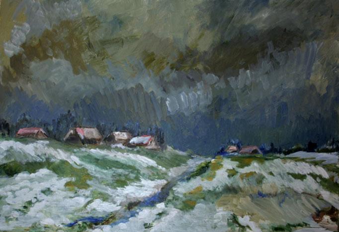 2012  Schneelandschaft  70x100 Öl