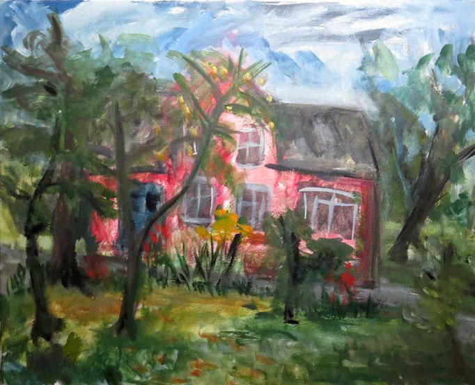 2013  Susannes Haus 50x60 Öl