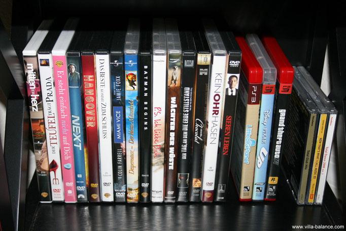 Auswahl an DVD`s und PS3-Spielen
