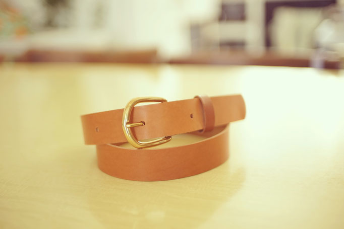 ceinture en cuir leather belt Fabriqué à Paris