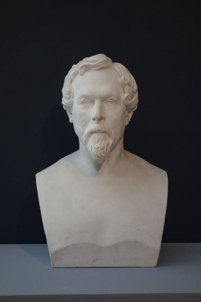 Jacques Boucher-de-Perthes, plâtre. G. de Forceville / Photo musée