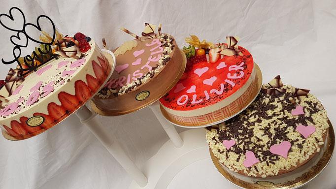 Gâteaux sur présentoir