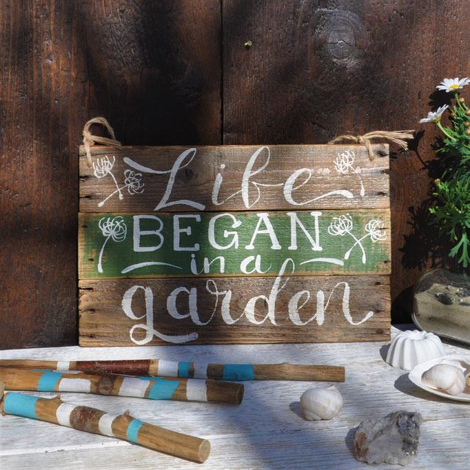 Life began in a Garden  Nr. 12 ca.  38/24cm  56.-
