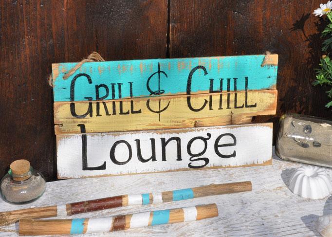Nr. 6   Grill & Chill Lounge  ca. 38cm/16cm  Fr. 48.-