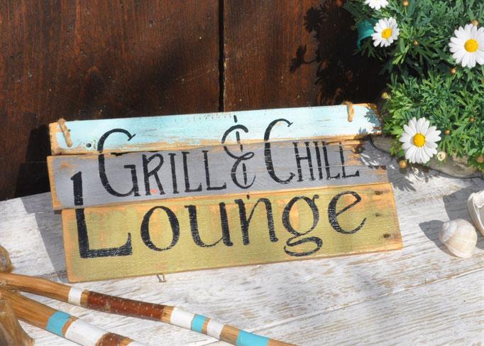 Nr. 3  Grill & Chill Lounge   ca. 38cm/16cm  Fr. 48.-auf Bestellung