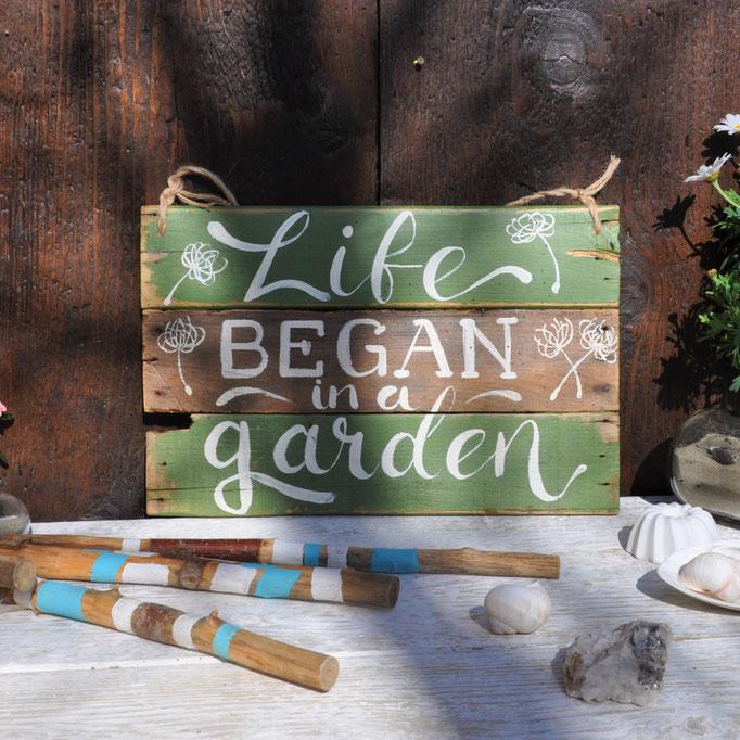 Life began in a Garden  Nr. 3  ca.  38/24cm  56.-