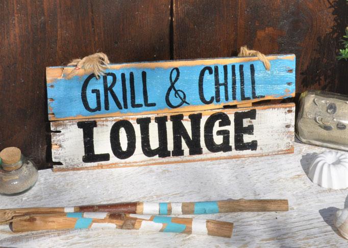 Nr. 4  Grill & Chill Lonunge  ca. 38cm/16cm  Fr. 42.-