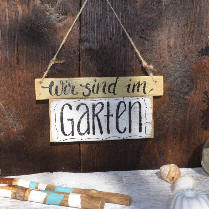 wir sind im Garten Nr.1  ca.  25/12cm Fr. 24.- auf Bestellung