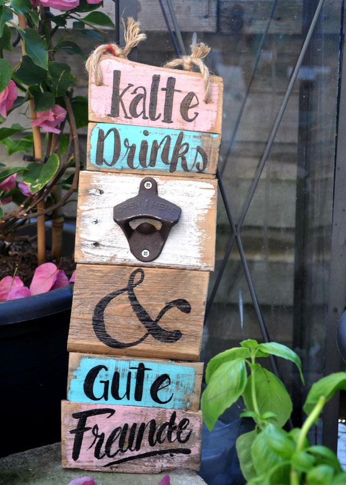Nr. 8   kalte Drinks & gute Freund  ca. 12/36cm  Fr. 45.-