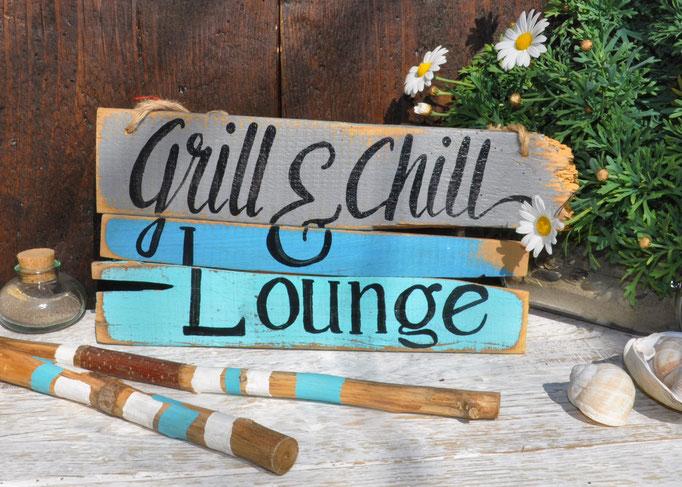 Nr. 2  Grill & Chill Lounge   ca. 38cm/18cm  Fr. 48.-