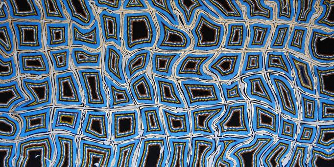 Smokin´ Canvas (2011) 100 x 50 cm - Acryl und Lack auf Leinwand