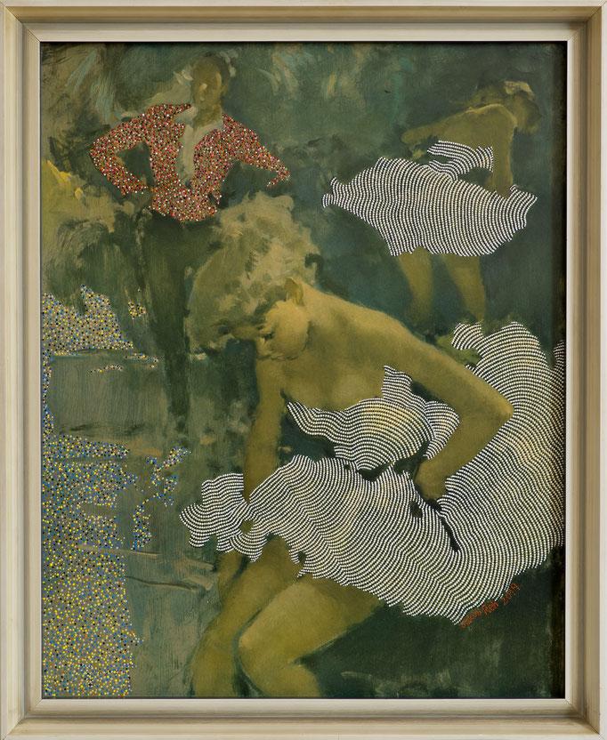 Torrero avec des ballerines (2019) - 66 x 54 cm - Acryl auf Leinwanddruck (Grisot)