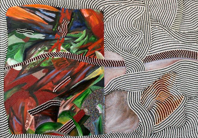 Rushhour of life (2016) - 156 x 114 cm - Acryl auf Leinwand