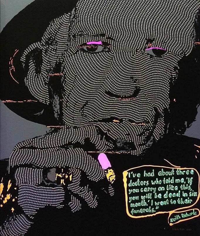 Keith Richards - I am who I am (2020) - 110 x 90 cm - Acryl auf Leinwand