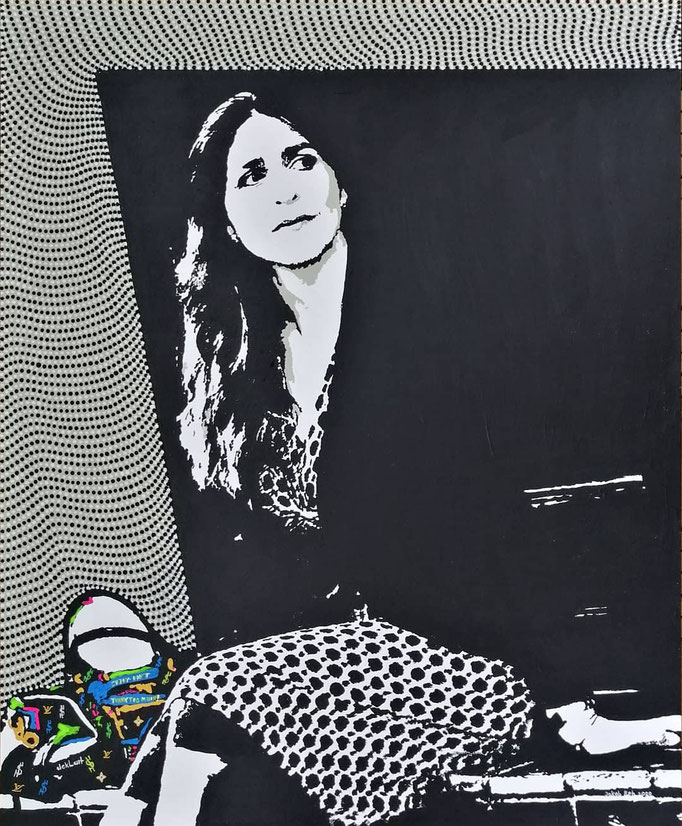 Sevgi Ates - Looking for Happiness (2020) - 90 x 110 cm - Acryl auf Leinwand
