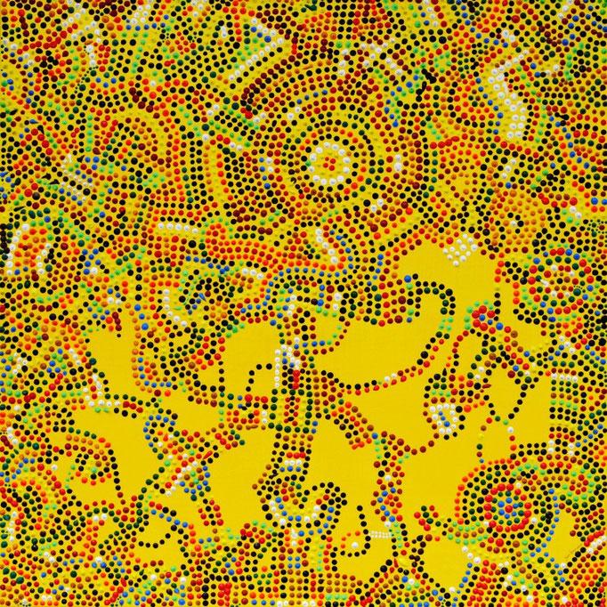 Small wood sunflower (2009)  75 x 75 cm - Acryl auf Leinwand