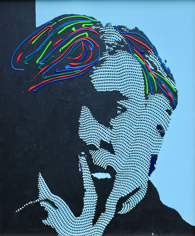 Andy Warhol - The Outsider (2019) - 75 x 90 cm - Acryl und Bauacryl auf Leinwand
