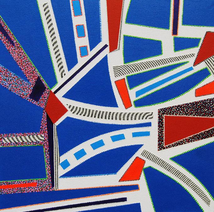 Composition en pointillés no. 1 (2013) - 50 x 50 cm - Acryl auf Leinwand
