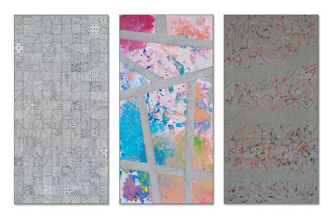 The first touch (2018) - 300 x 200 cm - Acryl auf Leinwand