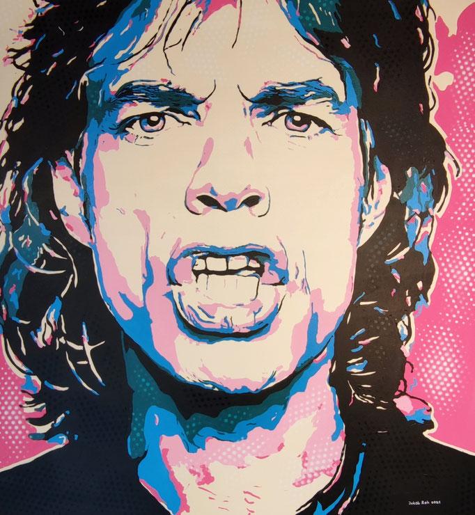 Jagger (2021) - 120 x 100 cm - Acryl und Lack auf Leinwand