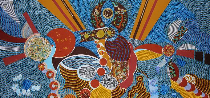 Monde de rêves (2012) 160 x 75 cm - Acryl auf Leinwand