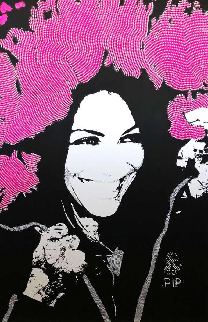 Smiling woman (2020) - 150 x 100 cm - Acryl auf Leinwand