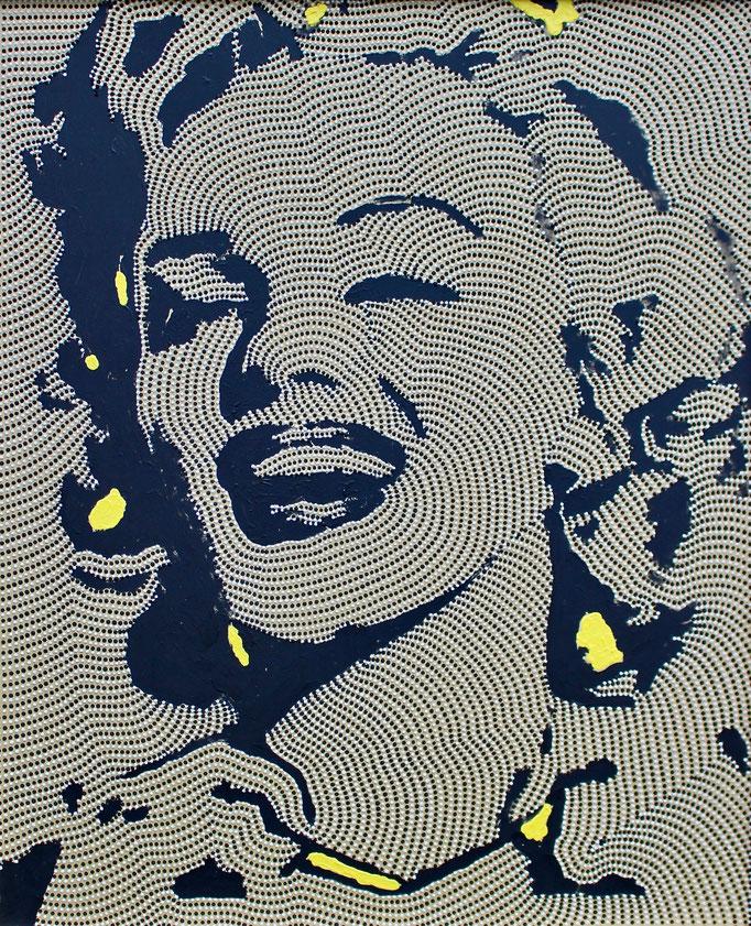 Golden Marylin (2019) - 90 x 110 cm - Acryl und Bauacryl auf Leinwand