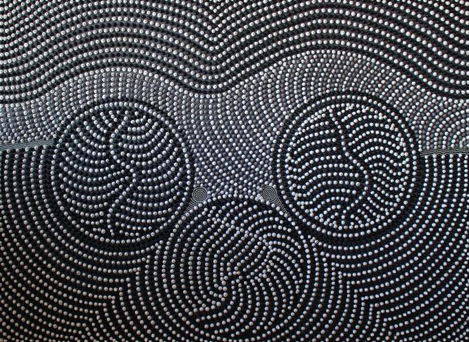 Pointed circles (2013) - 96 x 71,5 cm - Acryl auf Spanplatte