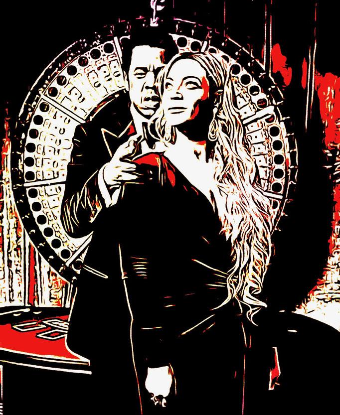 Jay-z & Beyonce (2021) - 120 x 100 cm - Acryl auf Leinwand