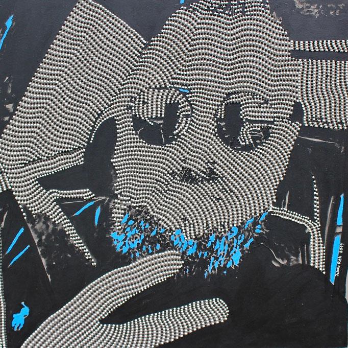 Selfmademan (2019) - 80 x 80 cm - Acryl auf Leinwand