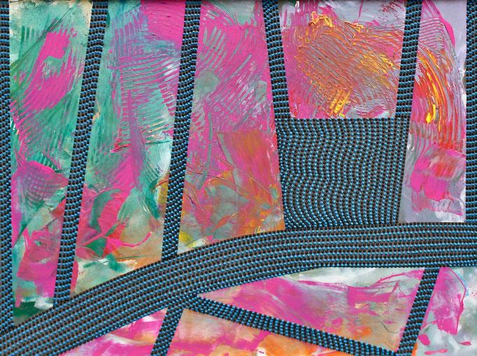 Floating piers (2018) - 71,5 x 96 cm - Acryl auf Leinwand
