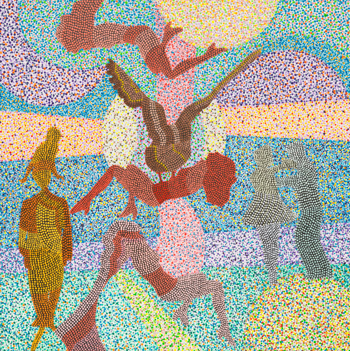 droit de cuissage (2018) - 30 x 30 cm - Acryl auf Leinwand
