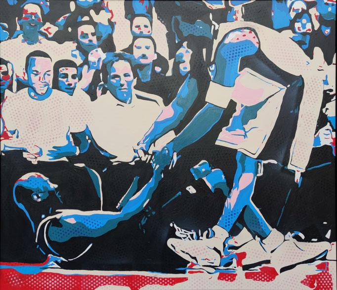Legends on court (2020) - 153 x 133 cm - Acryl und Lack auf Leinwand
