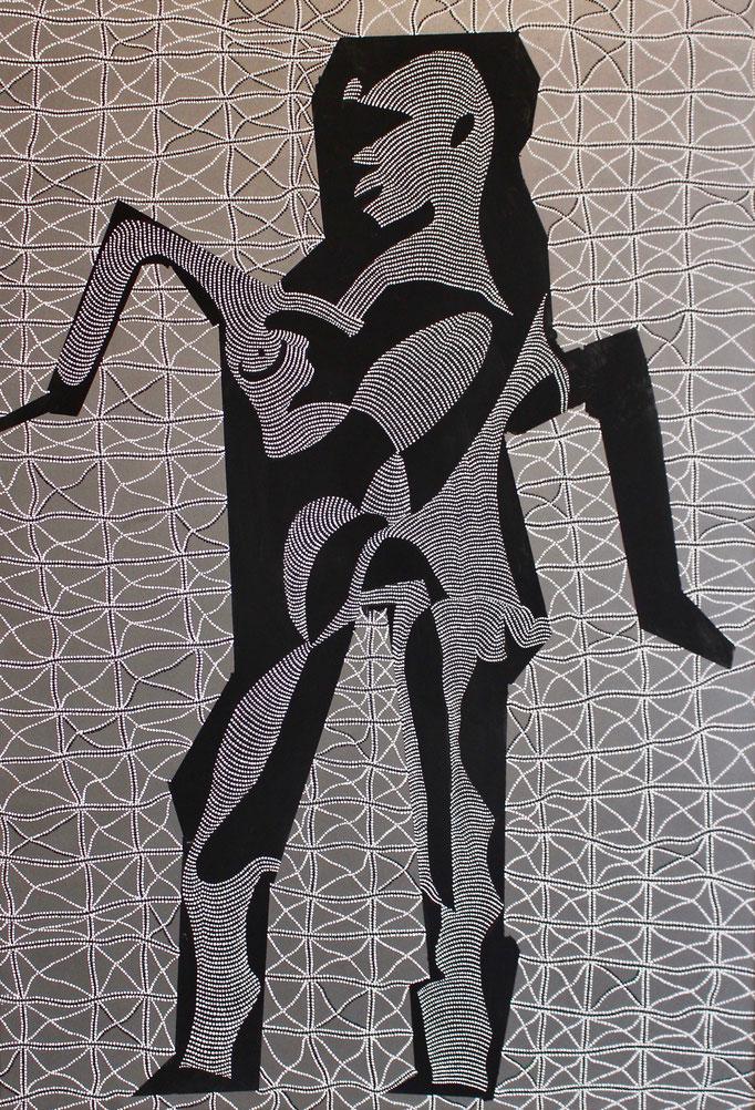 Der Mensch - Das Unbekannte Wesen (2018) - 77 x 107,5 cm - Acryl auf Leinwand