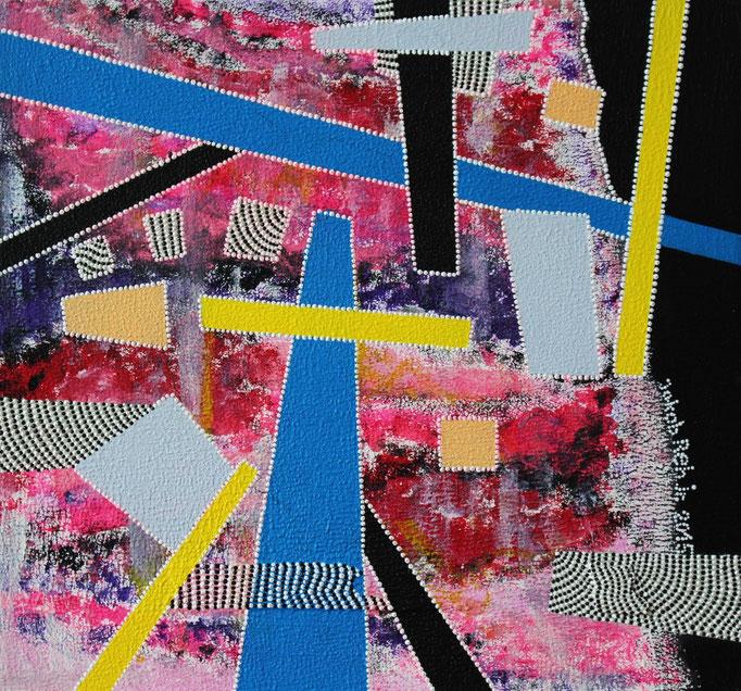Composition en pointillés no. 4 (2015) - 30 x 30 cm - Acryl auf Leinwand
