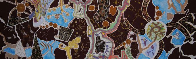 Dreaming eines jungen Mannes (2011) - 260 x 80 cm - Acryl auf Leinwand - Im Besitz von AIDAmar