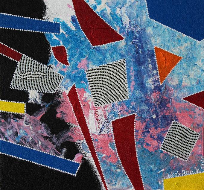 Composition en pointillés no. 3 (2015) - 30 x 30 cm - Acryl auf Leinwand