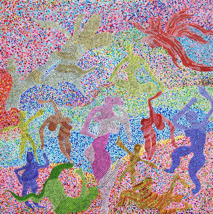 Stillose Zeiten (2012) - 27,5 x 27,5 cm - Acryl auf Leinwand