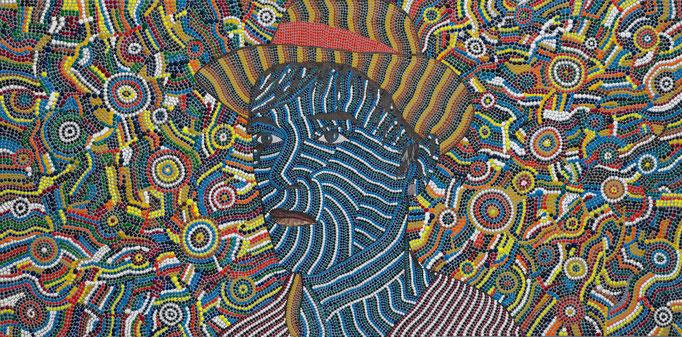 L´artiste (2010) - 100 x 50 cm - Acryl und Tusche auf Leinwand