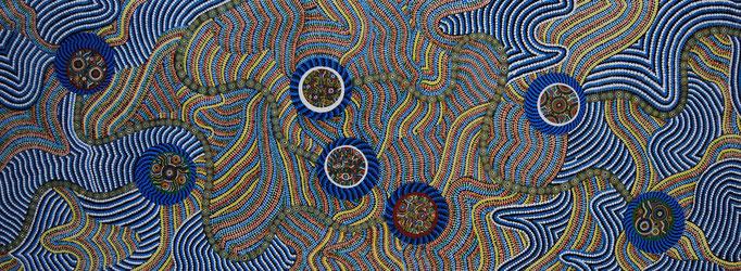 Sieben (2011) 123,5 x 50 cm - Acryl auf Spanplatte