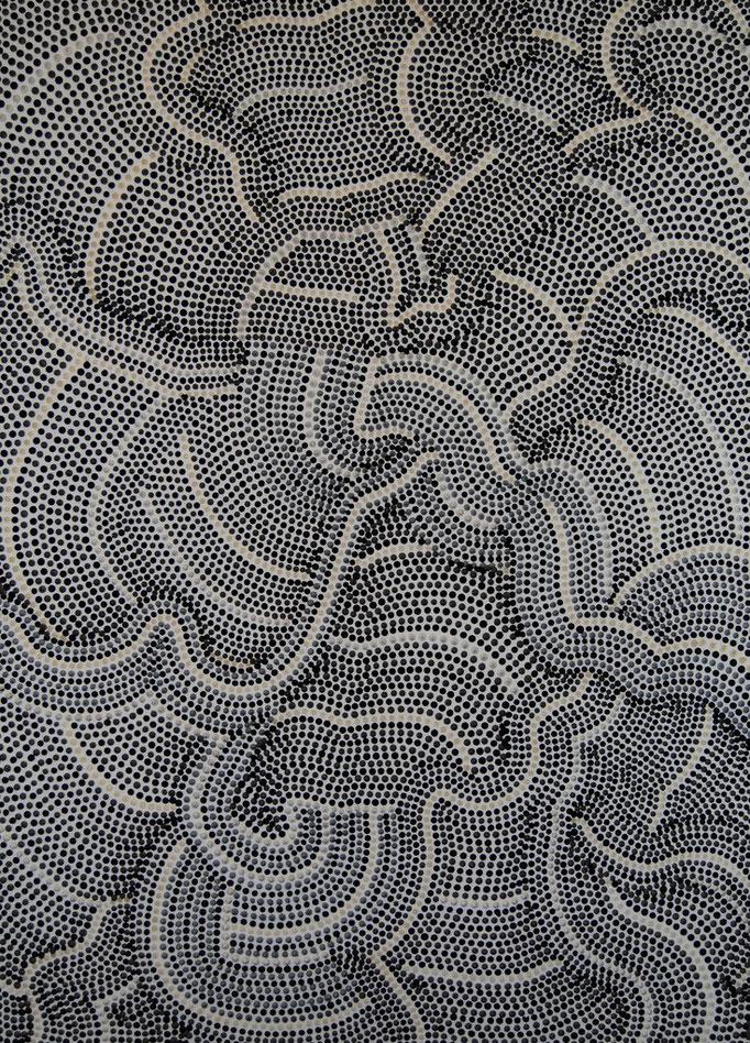 Pointed canvas (2013) - 90 x 140 cm - Acryl auf Leinwand