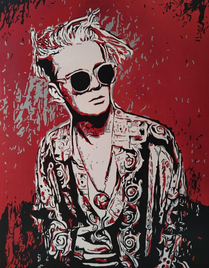 L.L. - red edition (2021) 100 x 80 cm - Acryl auf Leinwand