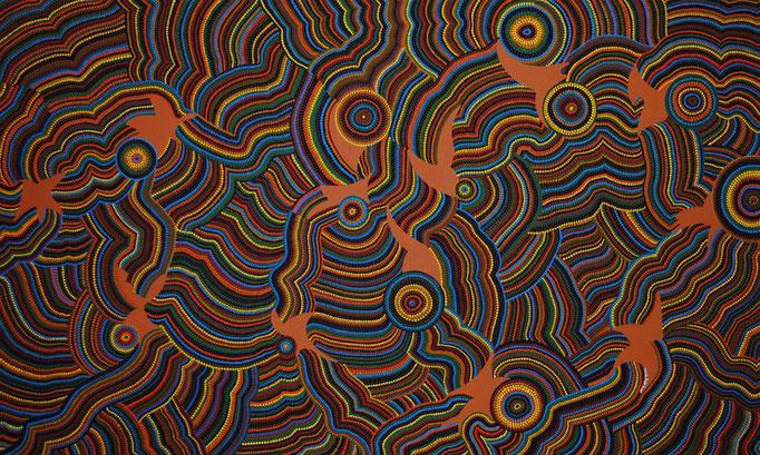 Slow pulsating brightness (2011) 165 x 100 cm - Acryl auf Leinwand