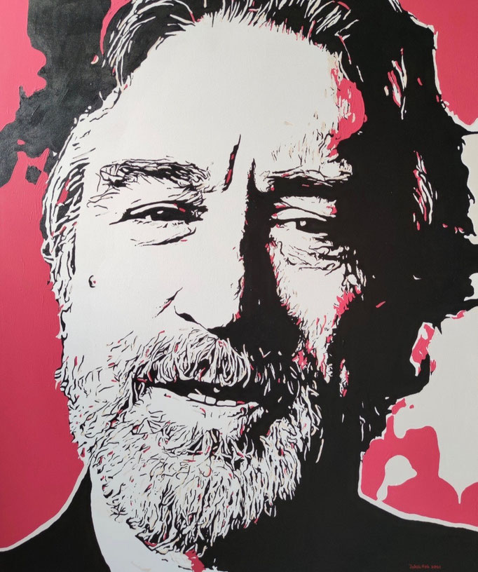 Robert De Niro (2021) - 120 x 100 cm - Acryl auf Leinwand