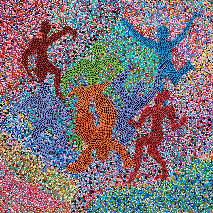 C´est la vie (2013) - 29 x 29 cm - Acryl auf Leinwand
