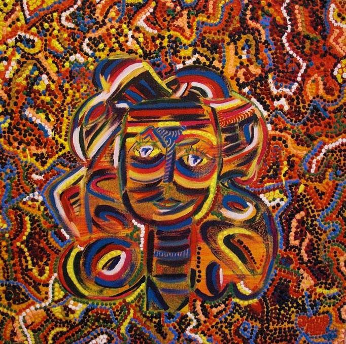 Francoise (2009) 75 x 75 cm - Acryl auf Leinwand